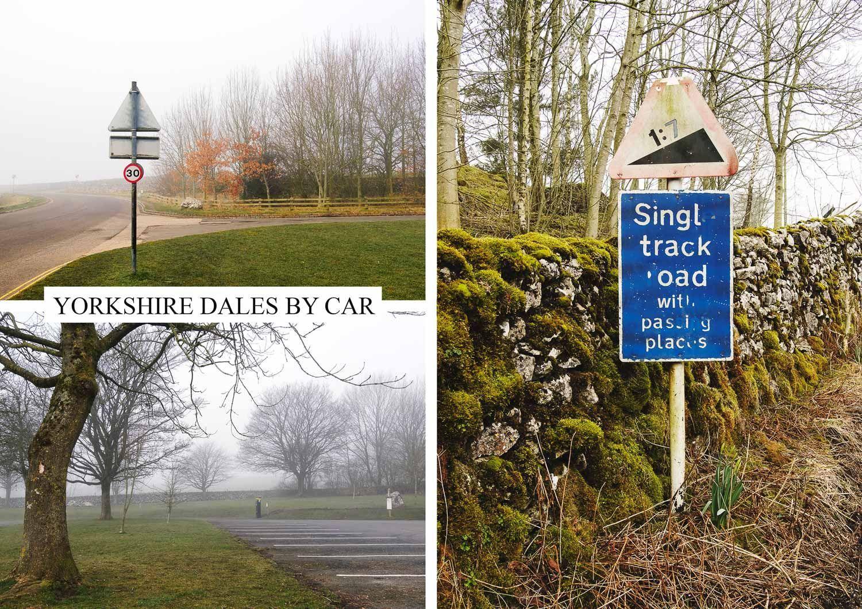postcard of Yorkshire Dales by car, Malham