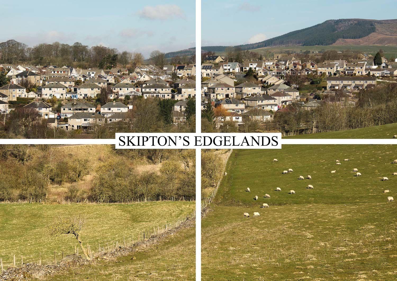 postcard of housing estate edgelands, Skipton