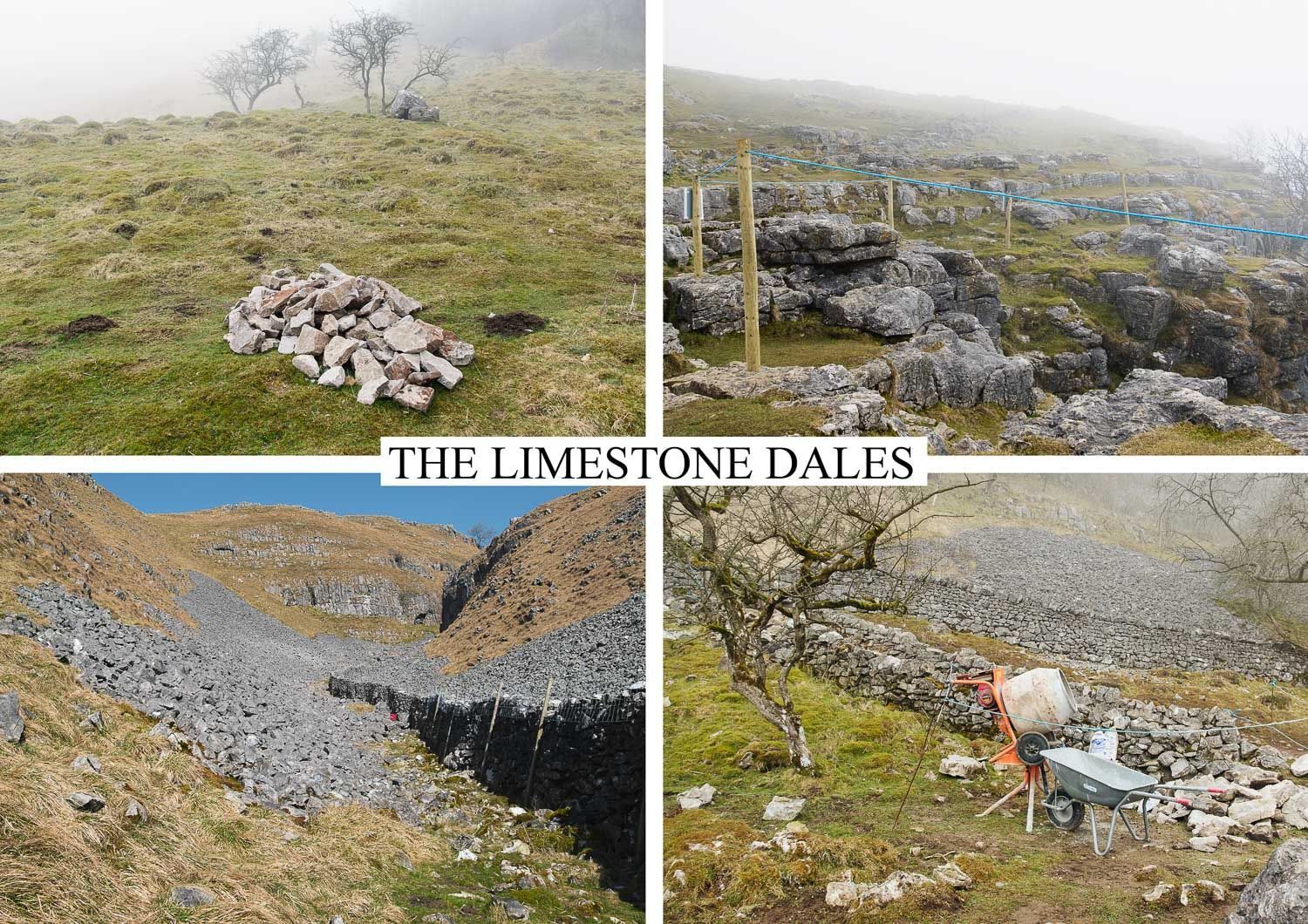 postcard of stone working, Yorkshire Dales