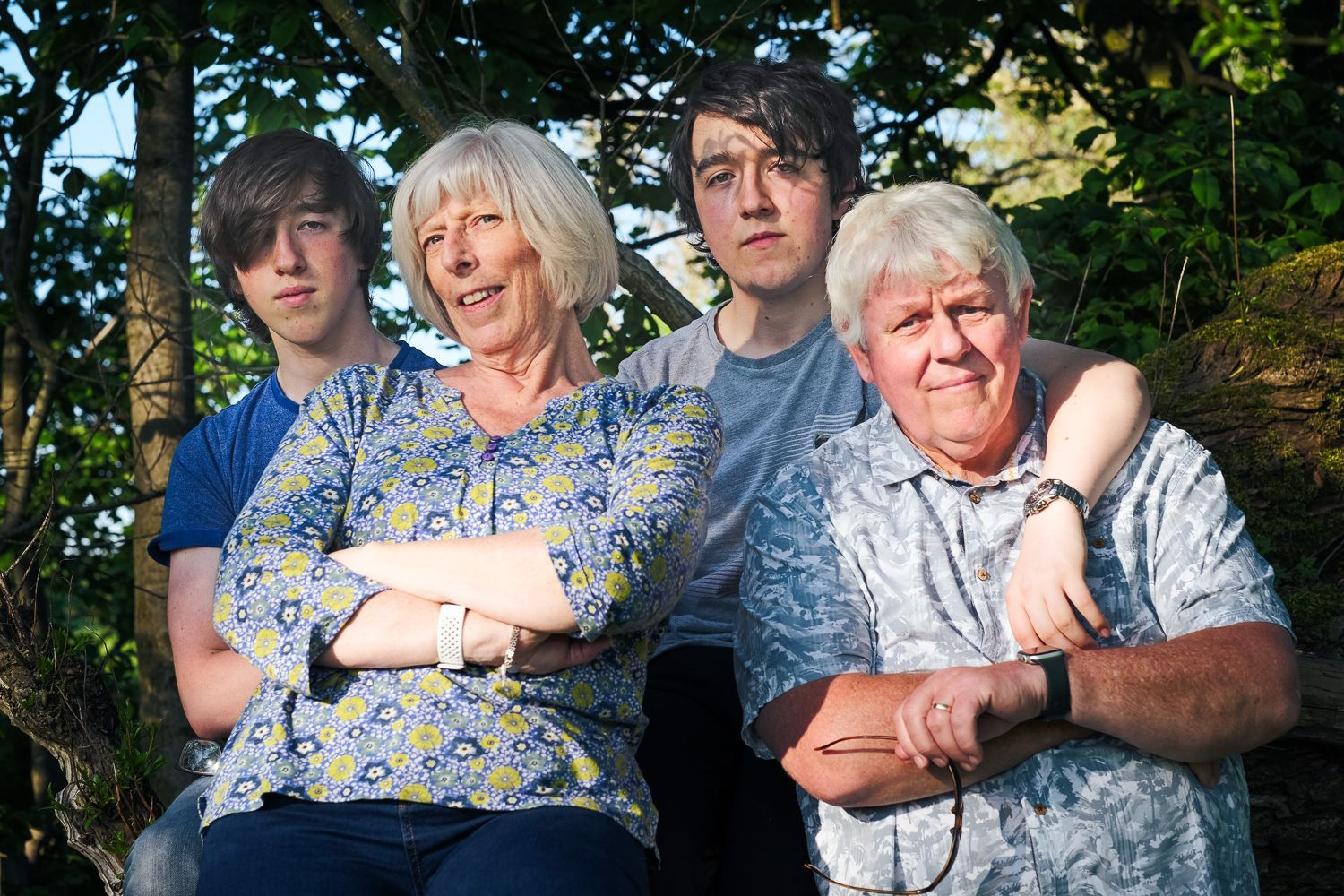 outdoor portrait of family group
