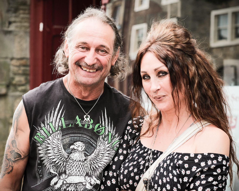 street portrait of rock couple