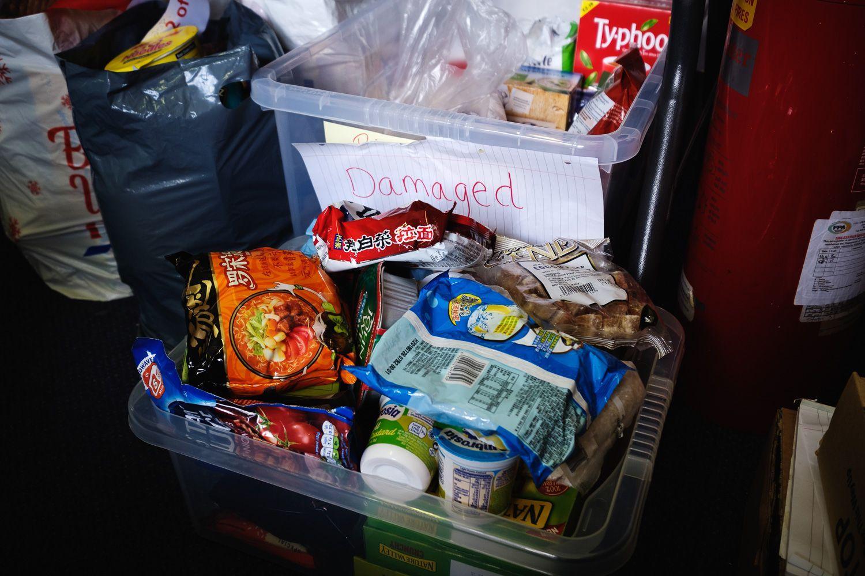Damaged product, Skipton Foodbank