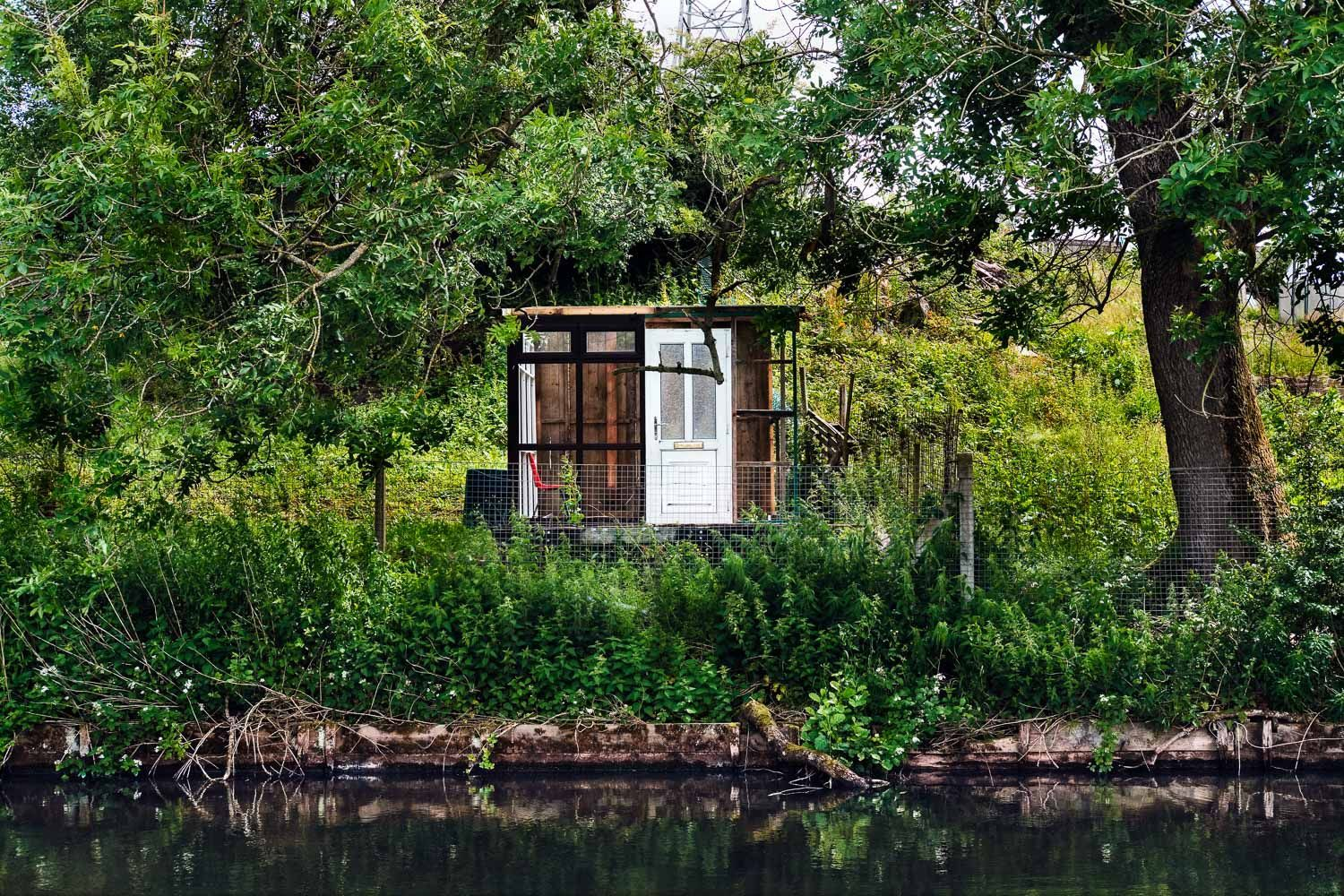 Summer house on canal, Burnley