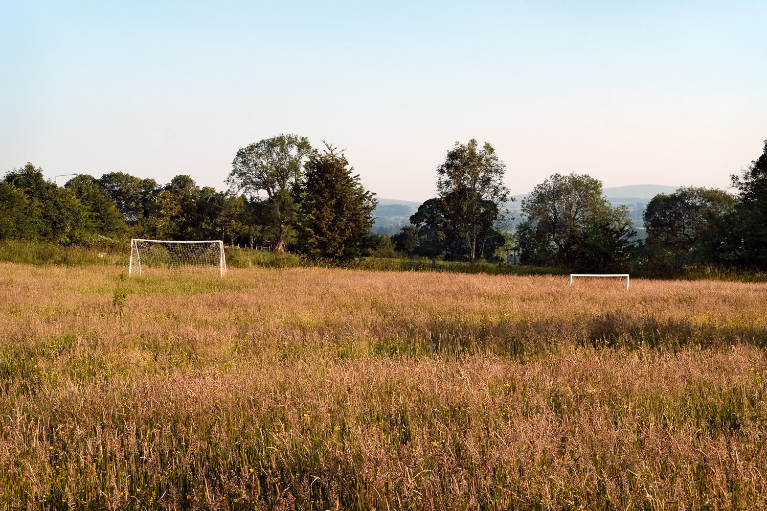 Football pitch, near Burnley
