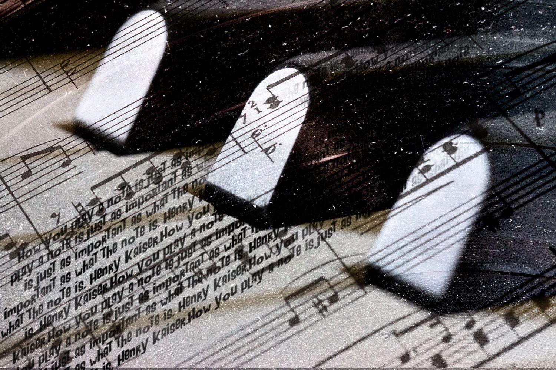 fine art photo piano keys composite
