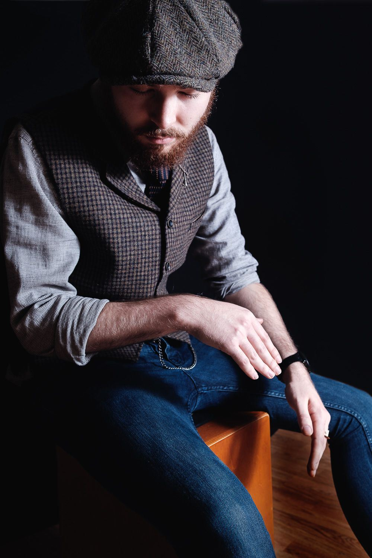 portrait of cajon player