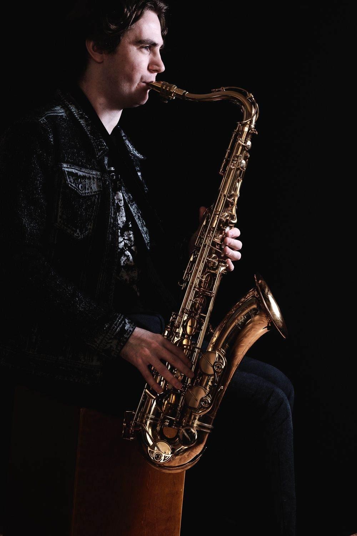 portrait of sax player