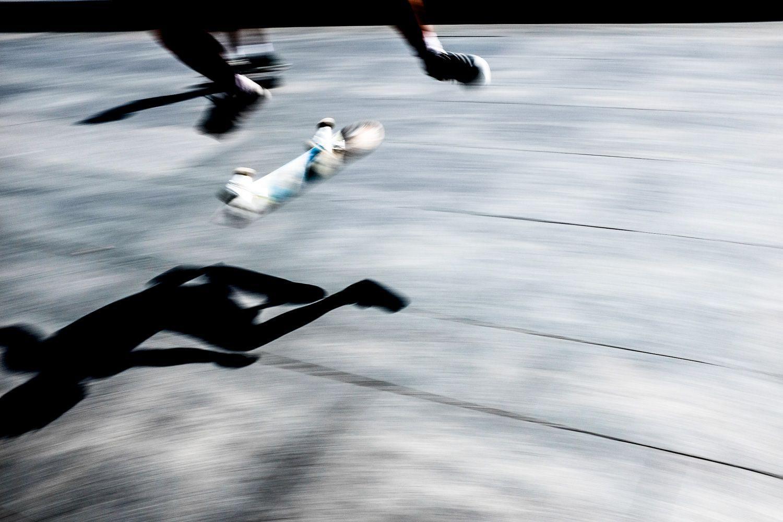 street photo of skateboard flip
