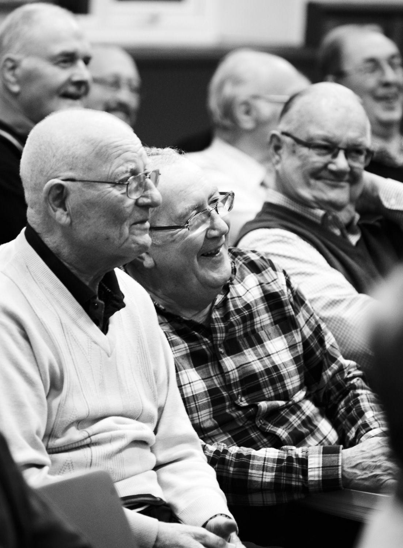 Humour at rehearsals, Steeton Methodist Hall