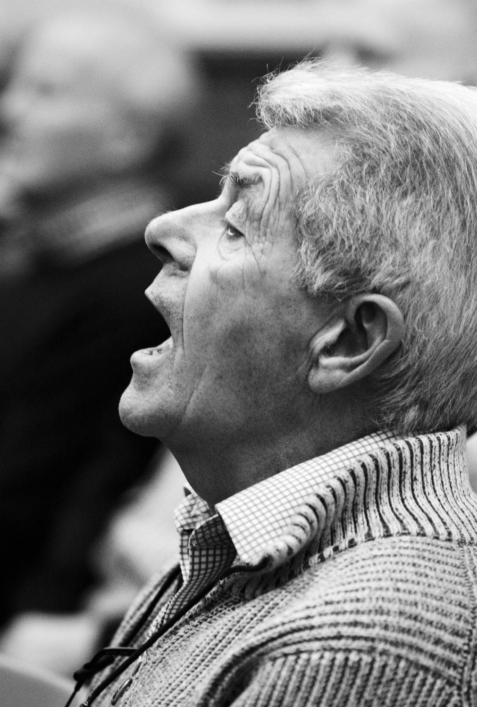 In full voice at rehearsals, Steeton Methodist Hall
